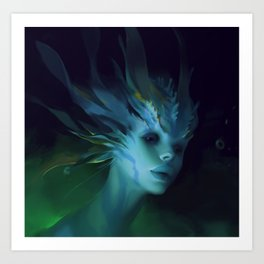 Mermaid portrait Art Print