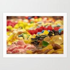 Candy World Art Print