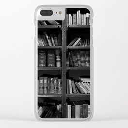 Antique Library Shelves - Books, Books and More Books Clear iPhone Case