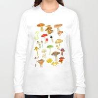 mushrooms Long Sleeve T-shirts featuring Mushrooms by Lara Paulussen