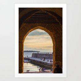 Sunset in Cefalu Art Print