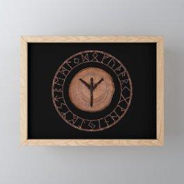 Algiz Elder Futhark Rune divinity, higher self, the state of listening, protective teaching force Framed Mini Art Print