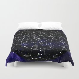 Celestial Map - Northern Hemisphere  Duvet Cover
