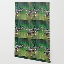 Canadian Geese - Digital Oil Wallpaper