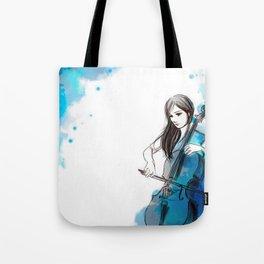 Mia and her cello Tote Bag
