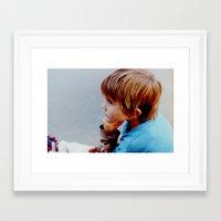 mike wrobel Framed Art Prints featuring Mike! by JulleK