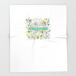 Jane Eyre - I Would Rather Be Happy Than Dignified Throw Blanket