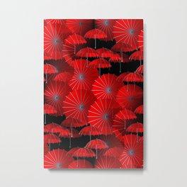 just a crazy umbrella pattern -1- Metal Print
