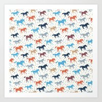 Horse Print Art Print