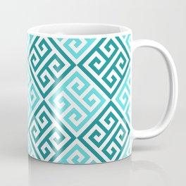 Blue Ornate Twists Geometric Pattern Coffee Mug