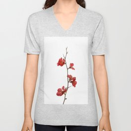 Branch with flowers Unisex V-Neck