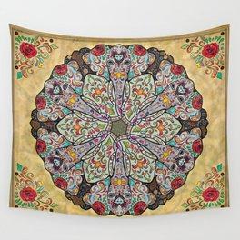 Mandala Elephants Wall Tapestry