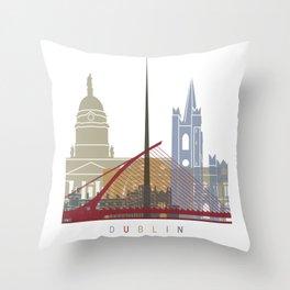 Dublin skyline pop Throw Pillow