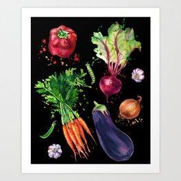 Art vegetables Art Print