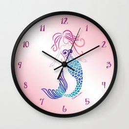 Tribal Mermaid Wall Clock