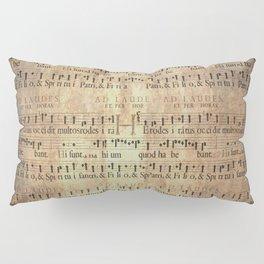 Antique Music Sheets on Rustic Paper Pillow Sham