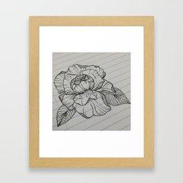 Classroom Peony Framed Art Print