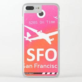 SFO San Francisco Clear iPhone Case