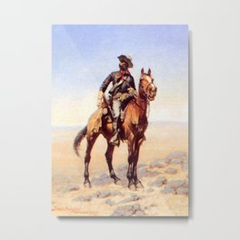 "Frederic Remington Western Art ""Buffalo Soldier"" Metal Print"