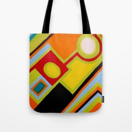 """My way"" Original oil finger painting by Monika Toth Tote Bag"