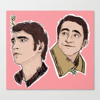 lee pace Canvas Prints featuring Lee Pace by Niya Art