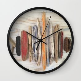 Driftwood Fish Wall Clock