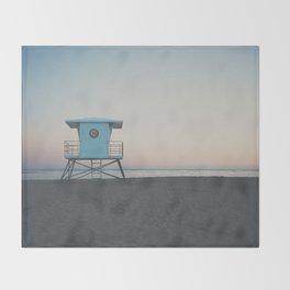 sunset on the coast ... Throw Blanket
