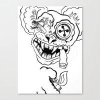 teddy bear Canvas Prints featuring Teddy by Seth Spriggs