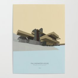 Fallingwater house Poster