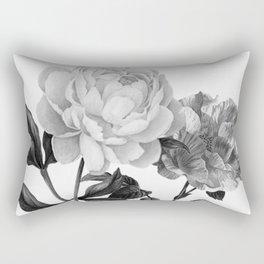 grayscale roses Rectangular Pillow