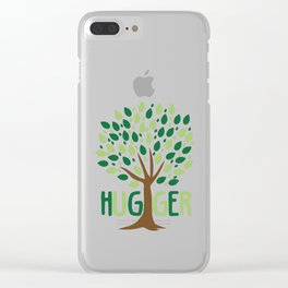 Tree Hugger design Planting Trees Eco Friendly Tee Clear iPhone Case