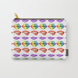 Rainbow Lips Carry-All Pouch