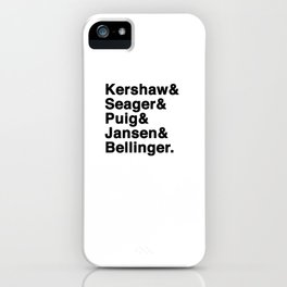 The Dodgers Five iPhone Case