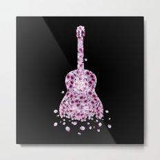 Flowers Guitar - pink II Metal Print