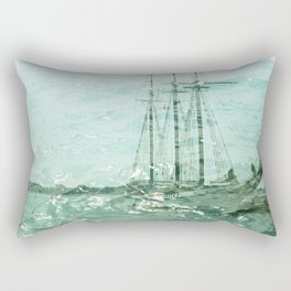 so we beat on, boats against the current... Rectangular Pillow