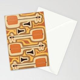 Retro Shamisen  Stationery Cards