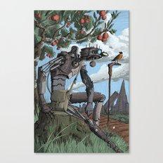 Johnny Apple-Droid Canvas Print