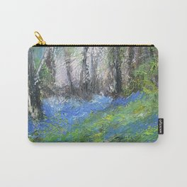 Bluebells English Woodland Landscape Acrylics On Canvas Carry-All Pouch