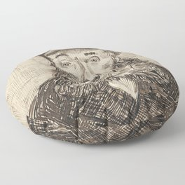 Van Gogh Postman Drawing Floor Pillow