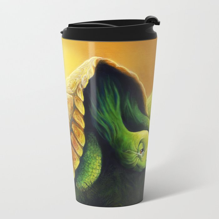 The Tortoise and the Hare Metal Travel Mug