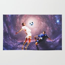 Football in the universe Rug