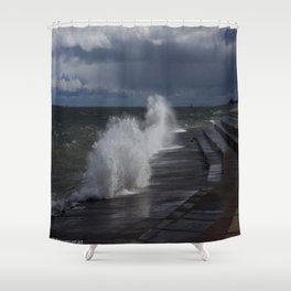 A Gale to Blow Out the Year (Chicago Waves Collection) Shower Curtain