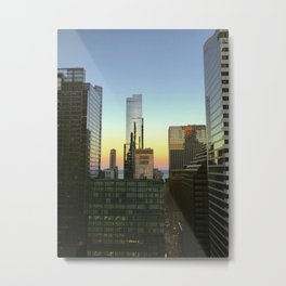 Chicago Buildings at Sunset Color Photo Metal Print