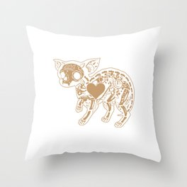Sugar Skull  Chihuahua Calavera Day Of The Dead Mexican Culture Celebration Humor Gift Throw Pillow