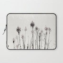 Dried Tall Plants and Flying White Birds Laptop Sleeve