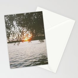 Evening at the Lake Stationery Cards