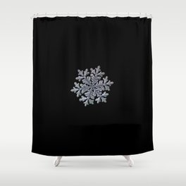 Real snowflake - Hyperion black Shower Curtain