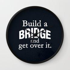 Build a Bridge Wall Clock