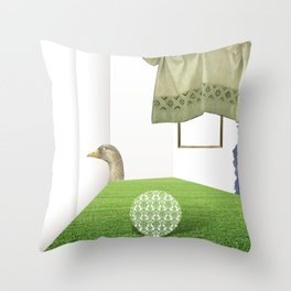 atmosphere · how was the question again Throw Pillow