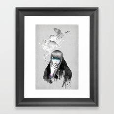 Swan Love Framed Art Print